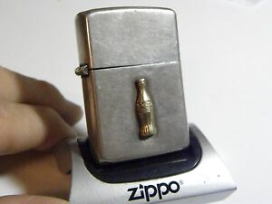 1948/49 Zippo STERLING SILVER-COKE Coca Cola Employee Gift with Gold Emblems