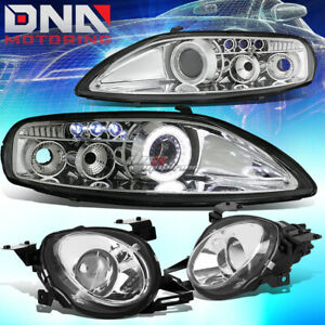 For 92 00 Z30 Sc300 sc400 Chrome Halo Ring Projector led Drl high Beam Headlight