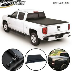 For 14 2018 Chevy Silverado 1500 5 8ft Short Bed Pickup Four Fold Tonneau Cover