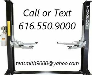New Tuxedo 9 000 Lbs 2 Post Auto Lift Symmetric With Free Truck Adapters