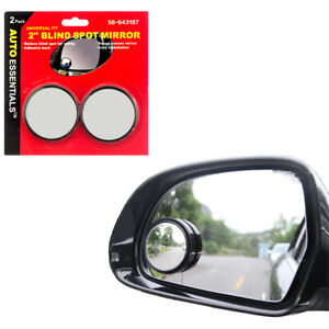 Universal 2 Wide Angle Convex Rear Side View Blind Spot Mirror For Car Auto 2ps