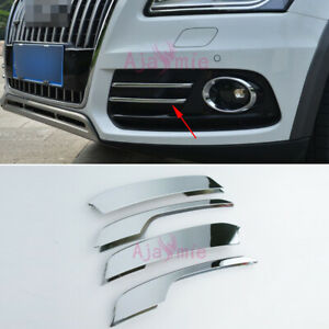 For Audi Q5 2013 2014 2015 2016 Front Fog Lamp Cover Trim Chrome Car Styling