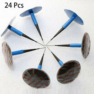 24pcs Pack Rubber Tire Plug Patch Repair Tool For Universal Car Accessories