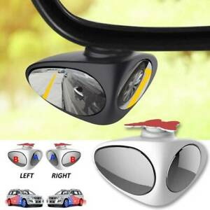 1x Car Blind Spot Mirror Wide Angle 360 Rotation Adjustable Convex Rear View New