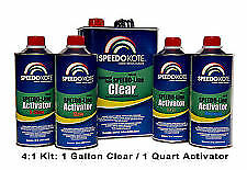 Automotive Clear Coat Fast Dry 2k Urethane 4 1 Gallon Medium Speed Activator