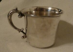 Antique Gorham Sterling Silver Gold Wash Baby Child S Cup 1973a