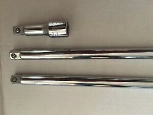 Matco Tools 1 2 Inch Drive Size 24 15 3 Chrome Extension Bar Lot Of 3