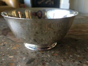 Vintage Dog Show Trophy Paul Revere Candy Dish Serving Bowl Silverplate Silver