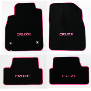 New 2011 2019 Chevy Cruze Black Floor Mats Embroidered Logo Choose Color Binding