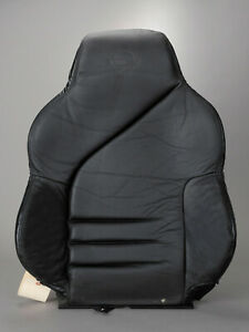 1994 1996 Corvette C4 Black Leather Nos Molded Drivers Seat Back Cover On Foam