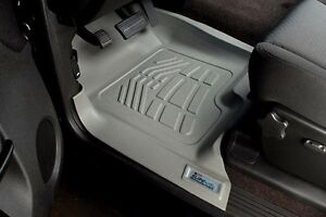 Front Sure fit Floor Mats 2007 2013 Chevy Silverado Crew extended standard Cab