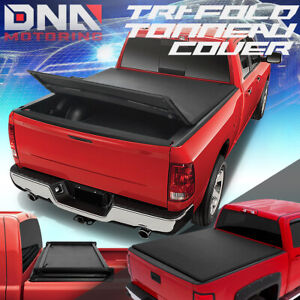 For 2009 2018 Ram Truck 6 5 Adjustable Tri fold Soft Trunk Bed Tonneau Cover