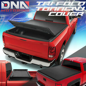 For 2007 2013 Silverado Sierra 5 75 Bed Adjustable Tri Fold Soft Tonneau Cover