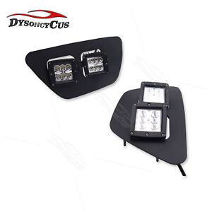 Fit 2015 up Chevy Colorado Dual 24w Led Fog Light Pods Lower Bumper Bracket Kits