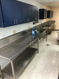 20 Foot Long Commercial Stainless Steel Sink