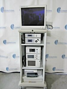 Stryker 1188 Camera System Stryker X8000 Light Source 21 Vision Elect W cart