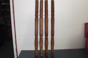 Antique Oak Parlor Table Legs Circa 1910 Euc