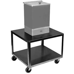 Hydrocollator Cart Stainless Steel 2 shelf 16x21in Service Stand Mobile Storage