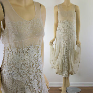 Vintage 20s Italian Gros Point Lace Wedding Dress