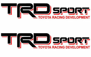 Toyota Trd Sport Decals Vinyl Stickers 1 Pair Truck Bed Tacoma Tundra 4 Runner