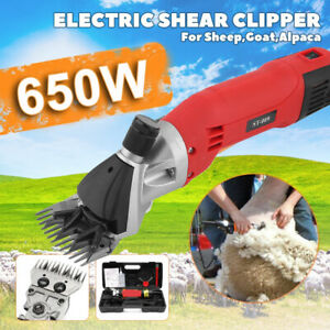 650w Sheep Goat Shears Clippers Electric Animal Shave Grooming Farm Supplies Red