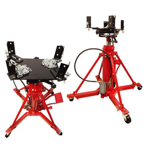 Manual Air 1 Ton Hydraulic Transmission Jack Lift Telescopic 2 Stage 2000 Lb Cap