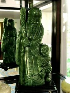 9 Chinese Jade Statue Shou Star 2307grms