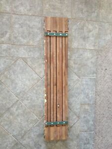 Vintage Old Wooden Wood Expandable Telescoping 50 To 88 Scaffold Scaffolding