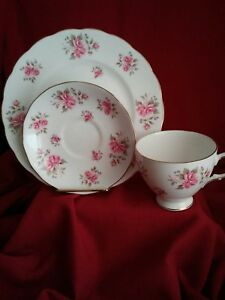 Vintage Collectible Gainsborough Bone China 3pc Tea Cup Saucer Luncheon Plate