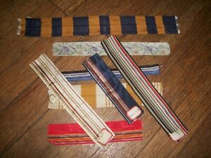 Antique Victorian Era Silk Taffeta Corded Ribbon Samples