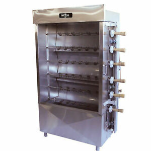 Metal Supreme Frg6ve Chicken Rotisserie 30 Chickens Lpg Only For Export