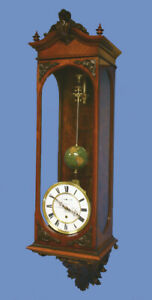 Rare German Long Running Conical Wall Regulator Clock