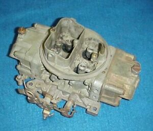 Used 4777 Holley Double Pump Carb Carburetor 650 Cfm Pumper Ford Chevy