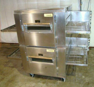 Lincoln Impinger Conveyor Pizza Doublestack Oven Model 1450 Gas Free Shipping
