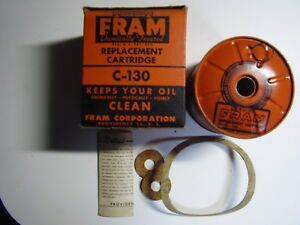 Vintage 1947 Nors Fram Cartridge Oil Filter C 130