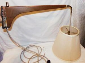 Vtg 1950s Teak Wood Swing Arm 3 Bulb Lamp Light Mcm Wall Mount Hanging