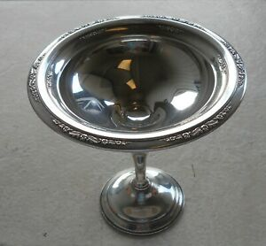 1930 S 6 Tall International Courtship Sterling Weighted Reinforced Compote Dish