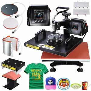 5 In1 Lcd Heat Press Machine Digital T shirt Hat Cap Summer Sublimation Transfer
