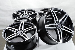 18x8 Black Wheels Fits Kia Forte Optima Soul Ford Fusion Mustang Civic Tl Rims