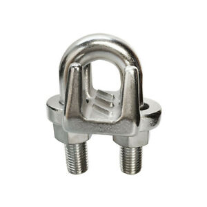 Marine Industrial 1 Heavy Duty Wire Clip Rope Clamp Stainless Steel Cable Boat