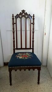 Antique French Gothic Side Chair