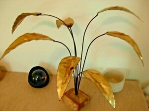 Brass Plant Table Art Sculpture Eames C Jere Era Vtg Mid Century Danish Modern