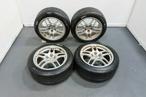 Set Of Used R33 Nissan Skyline Gtr 5x114 3 17x9 Oem Forged Wheels For Sale