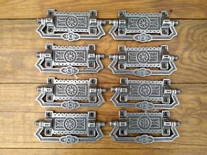Set Of 8 Victorian Aesthetics Movement Style Chest Of Drawer Handles