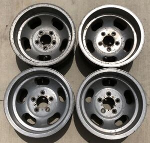 Vintage Set Of 4 15x8 5 Us Indy 5 Slot Mags 5 On 4 3 4 Chevy Pontiac Gm 5x120 65