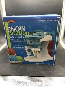 Back To Basics Snow Station Snow Cone Maker Electric Dual Ice Shaver