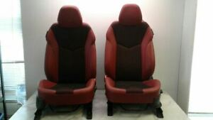 12 15 Veloster Red And Black Bucket Manual Seats Cloth Leather