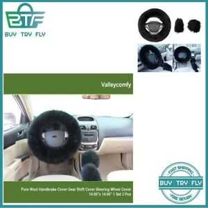 Fluffy Steering Wheel Cover Universal Black Men Women Girl Cute Huge Fur Gm Yj
