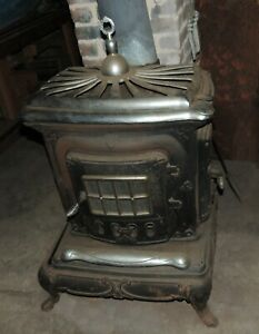 Vintage Used Cast Iron Wood Burning Stove
