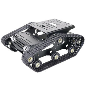 Solid Metal Robot Smart Tank Chassis Crawler Car 9v With Code Wheel Motor